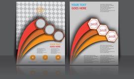 Bandeira anual abstrata do original de Infographic da página do compartimento do molde do cartaz da capa do livro do folheto da d Imagens de Stock Royalty Free