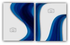 Bandeira anual abstrata do original de Infographic da página do compartimento do molde do cartaz da capa do livro do folheto da d Imagem de Stock