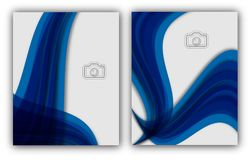Bandeira anual abstrata do original de Infographic da página do compartimento do molde do cartaz da capa do livro do folheto da d Foto de Stock Royalty Free