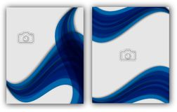 Bandeira anual abstrata do original de Infographic da página do compartimento do molde do cartaz da capa do livro do folheto da d Imagem de Stock Royalty Free