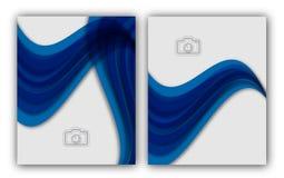 Bandeira anual abstrata do original de Infographic da página do compartimento do molde do cartaz da capa do livro do folheto da d Fotografia de Stock Royalty Free