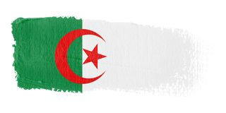 Bandeira Argélia do Brushstroke Imagens de Stock