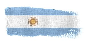 Bandeira Argentina do Brushstroke Fotografia de Stock