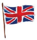 Bandeira artística de Union Jack ingleses ilustração do vetor