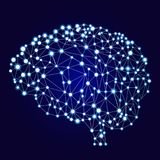 Bandeira artificial das redes neurais Um formulário do conexionismo ANNs Os sistemas de computação inspiraram pelas redes biológi Imagens de Stock