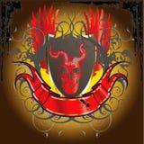 Bandeira assustador 2 do crânio Ilustração Royalty Free