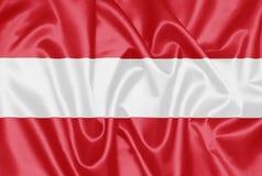 Bandeira austríaca - Áustria fotografia de stock
