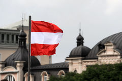 Bandeira austríaca Imagens de Stock