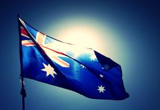 Bandeira australiana Fotografia de Stock