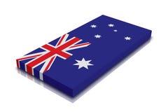 Bandeira australiana ilustração stock