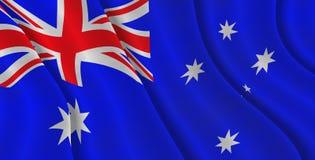 Bandeira australiana Fotografia de Stock Royalty Free