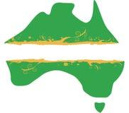 Bandeira australiana de Grunge do mapa Fotografia de Stock