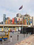 Bandeira australiana em Melbourne Fotos de Stock