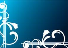 Bandeira azul Fotografia de Stock Royalty Free