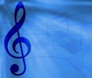 Bandeira azul da música ilustração do vetor