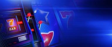 Bandeira azul dos jogos do casino do entalhe ilustração do vetor