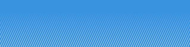 Bandeira azul larga com as listras diagonais finas do inclinação foto de stock royalty free
