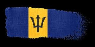Bandeira Barbados do Brushstroke Imagens de Stock