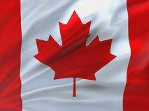 Bandeira belamente de ondulação de Canadá Fotos de Stock