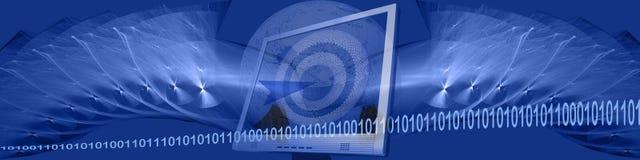 Bandeira: binário, tecnologia e alvos Imagem de Stock