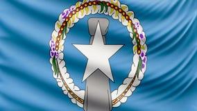 Bandeira bonita realística 4k de Northern Mariana Islands ilustração stock
