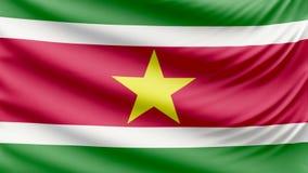 Bandeira bonita realística 4k do Suriname ilustração royalty free