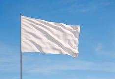 Bandeira branca imagem de stock