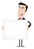 Bandeira branca do homem de negócios Imagens de Stock