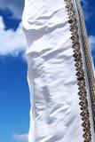 Bandeira branca no vento Imagem de Stock Royalty Free