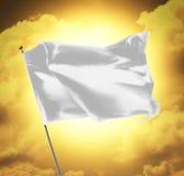 Bandeira branca vazia Imagens de Stock Royalty Free