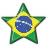 Bandeira brasileira da estrela da tecla Fotos de Stock Royalty Free