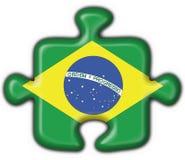 Bandeira brasileira do enigma da tecla Fotografia de Stock