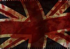 Bandeira britânica BRITÂNICA fotografia de stock royalty free