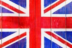 Bandeira BRITÂNICA pintada em placas de madeira Foto de Stock