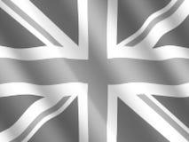 Bandeira britânica rippled reticulação ilustração do vetor