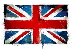 Bandeira BRITÂNICA suja Foto de Stock Royalty Free