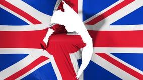 Bandeira BRITÂNICA danificada de Reino Unido ilustração do vetor
