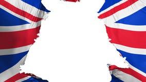 A bandeira BRITÂNICA de Reino Unido rasgou-se distante ilustração royalty free