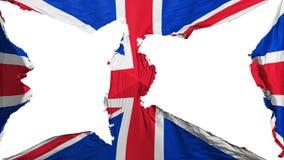 Bandeira BRITÂNICA destruída de Reino Unido ilustração stock