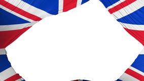 Bandeira BRITÂNICA dividida de Reino Unido ilustração stock