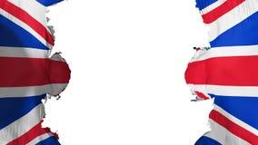 Bandeira BRITÂNICA soprada de Reino Unido ilustração royalty free
