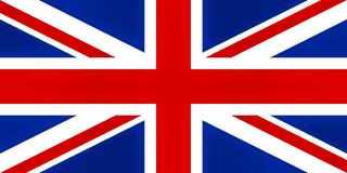 Bandeira BRITÂNICA, texturised ilustração stock