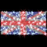 Bandeira britânica nos cristais de rocha Imagens de Stock