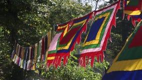 Bandeira budista colorida da oração