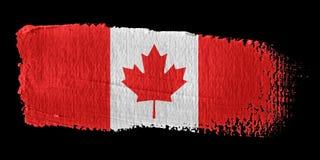 Bandeira Canadá do Brushstroke ilustração do vetor