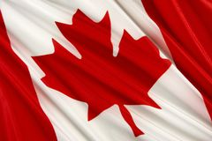 Bandeira canadense Fotos de Stock Royalty Free