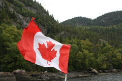 Bandeira canadense Fotos de Stock Royalty Free