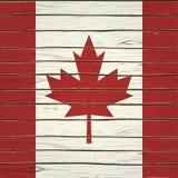 Bandeira canadense na madeira Imagens de Stock Royalty Free