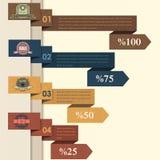 Bandeira & cartão das opções do número do fundo do vetor ilustração stock