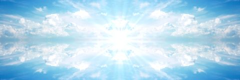 Bandeira celestial Sun 2 Imagens de Stock